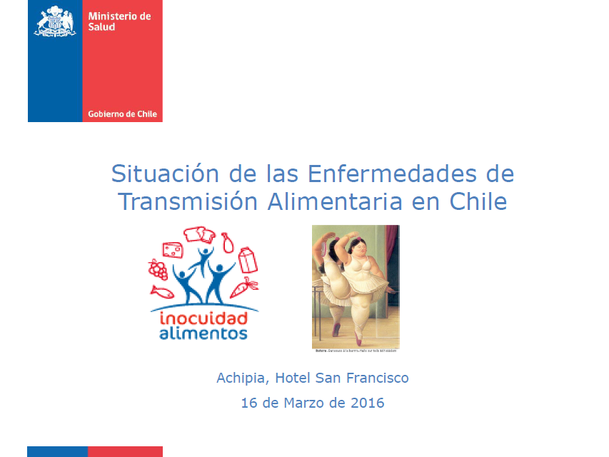 Silvia Baeza, Minsal - Situación de las Enfermedades de Transmisión Alimentaria en Chile