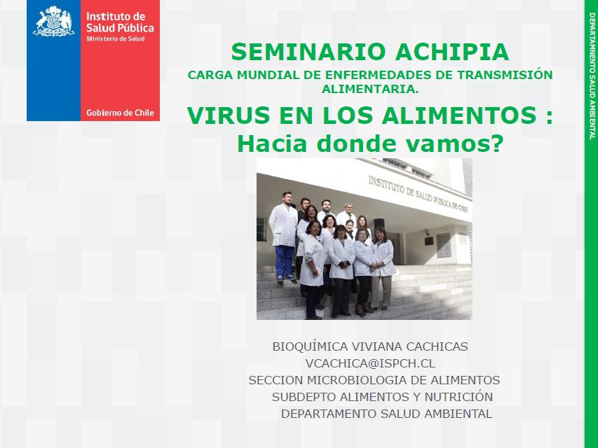 Viviana Cachicas, ISP - Virus en los Alimentos_Hacia donde vamos
