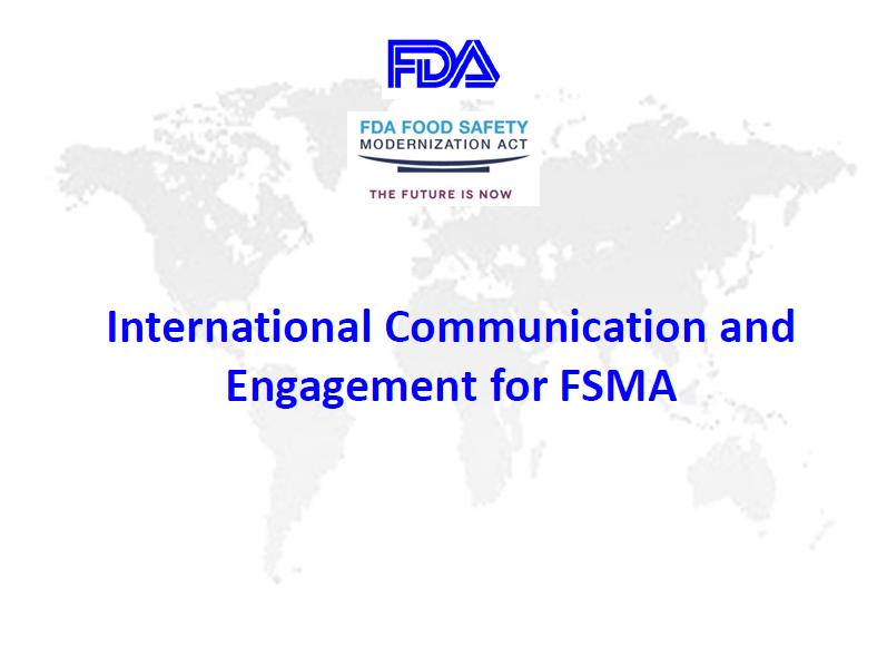 5. FSMA International Engagement -CL-ENG
