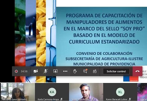 Programa de capacitación manipuladores de alimentos
